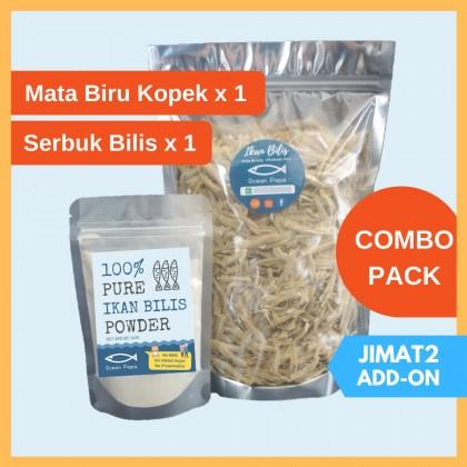[COMBO] Ikan Bilis Mata Biru Kopek (500g) & Premium Serbuk Ikan Bilis 100% Anchovy Powder Ocean Papa (150g)