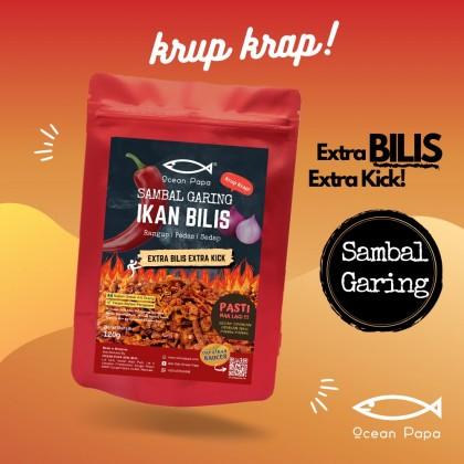Sambal Garing Extra Ikan Bilis Ocean Papa (Rangup Crispy Viral) - 120g