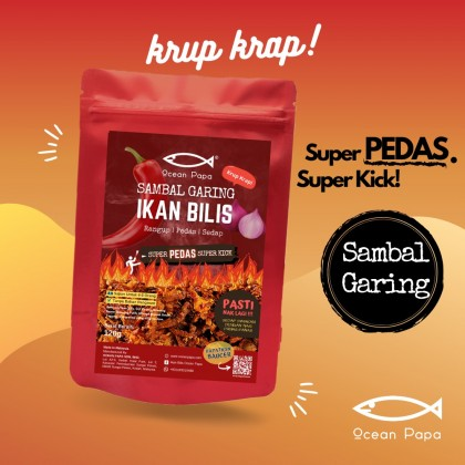 Sambal Garing Bilis Super Pedas Ocean Papa  (Rangup Crispy Viral) - 120g