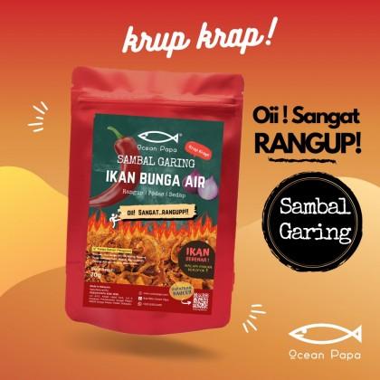 Sambal Garing Ikan Bunga Air Ocean Papa  (Rangup Crispy Viral Snack) - 70g